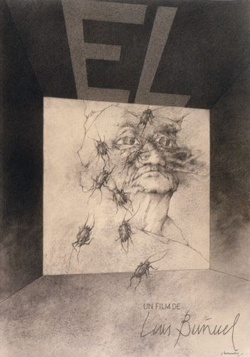 "Jose Hernandez. Poster for the movie Bunuel ""He"""