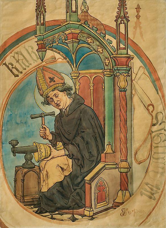 Ян Матейко. Святой Элигий, покровитель ювелиров