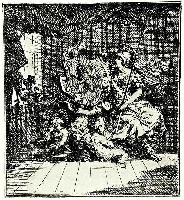 Уильям Хогарт. Герб для королевского геральдического живописца