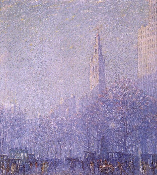 Voll. Foggy city