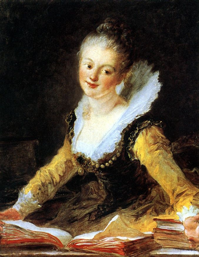 Jean Honore Fragonard. Portrait of Madame Brion de Jouy, French musician and composer