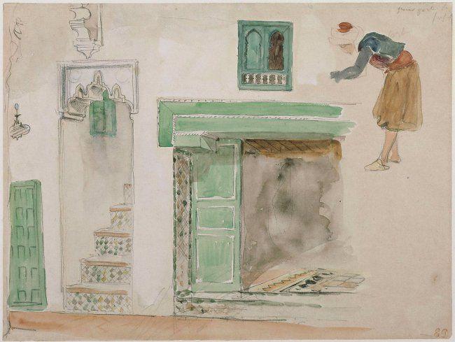Eugene Delacroix. Doors and Windows of the Moorish house