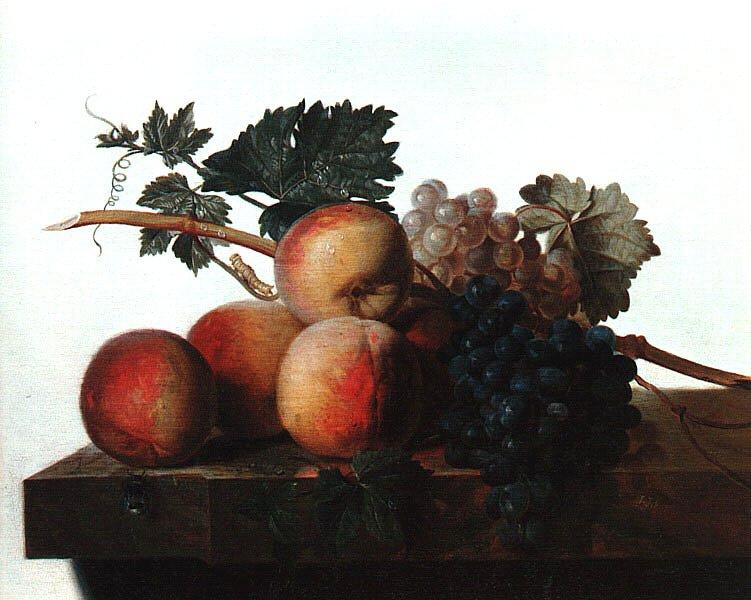 Джон Джонстон. Виноград и персики