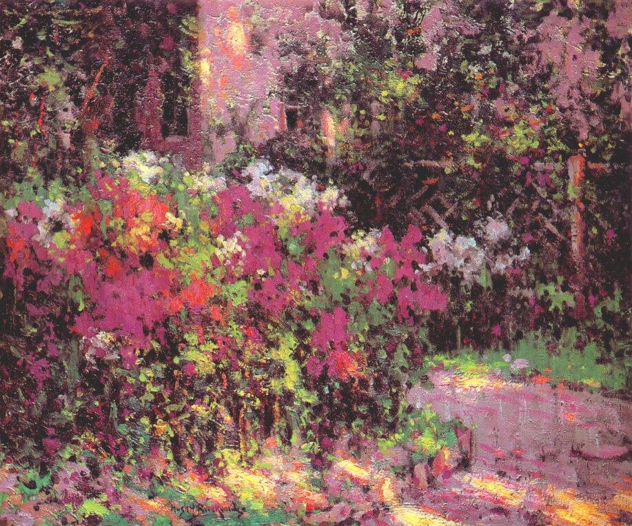 Henry Breckenridge. Flower garden