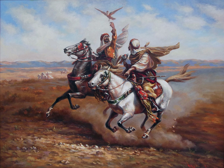 Unknown artist. Riders with Eagle Oil