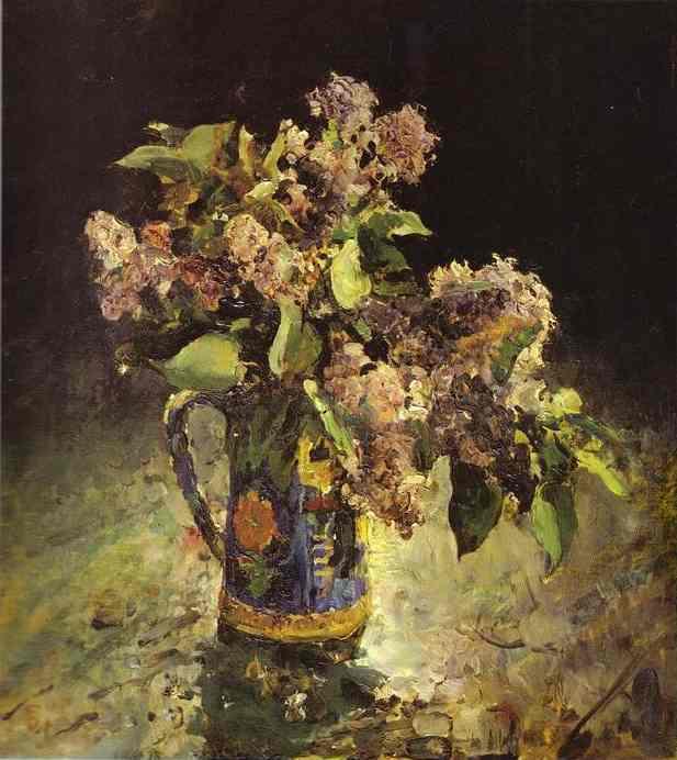 Valentin Aleksandrovich Serov. Lilacs in a vase