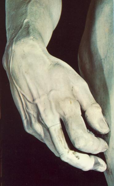 Микеланджело Буонарроти. Давид. Фрагмент руки