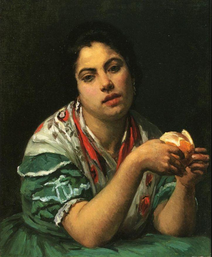 Мэри Кассат. Крестьянка, очищающая апельсин