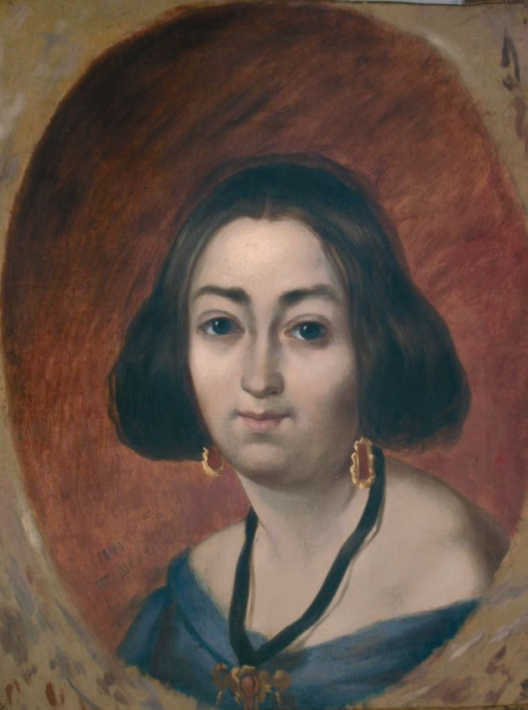 Taras Grigorievich Shevchenko. Portrait Of Anna Zakrevskaya