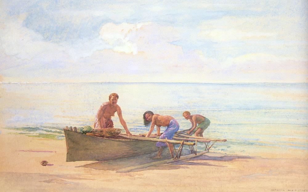 Джон Лафарг. Лодка