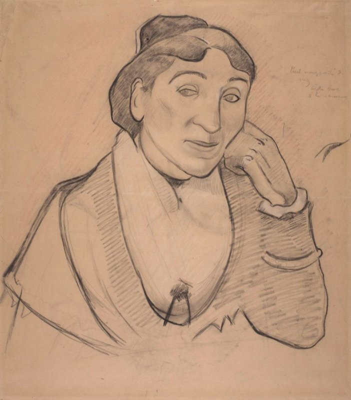 Paul Gauguin. Woman from Arles, Madame Zhinu