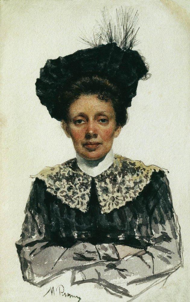 Ilya Efimovich Repin. Portrait of a woman. Museum of Fine Arts, Tbilisi.