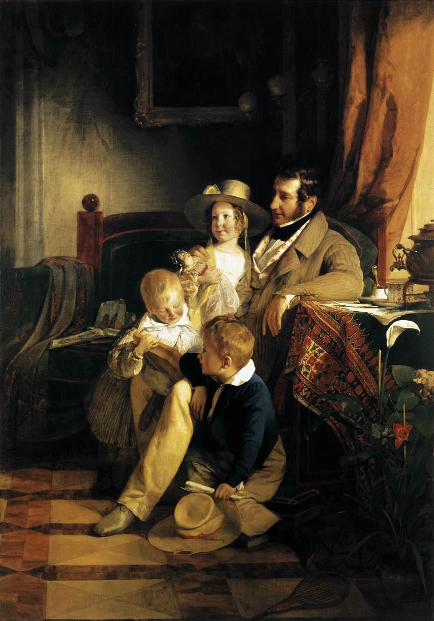 Friedrich von Amerling. Rudolph von Arthaber with children