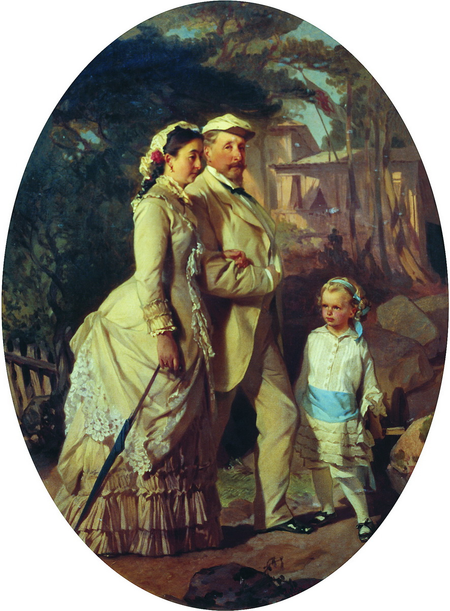 Ivan Kuzmich Makarov. Cheremisin family portrait. 1882