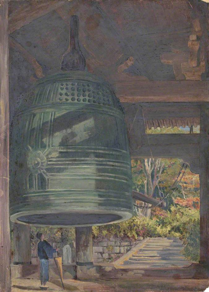 Marianna North. The Great Bell of the Hieron Temple (Sheni Temple), Kyoto, Japan