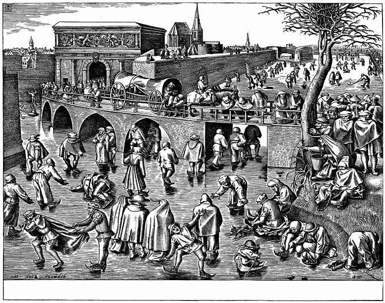 Питер Брейгель Старший. Катание на коньках у ворот святого Георгия в Антверпене