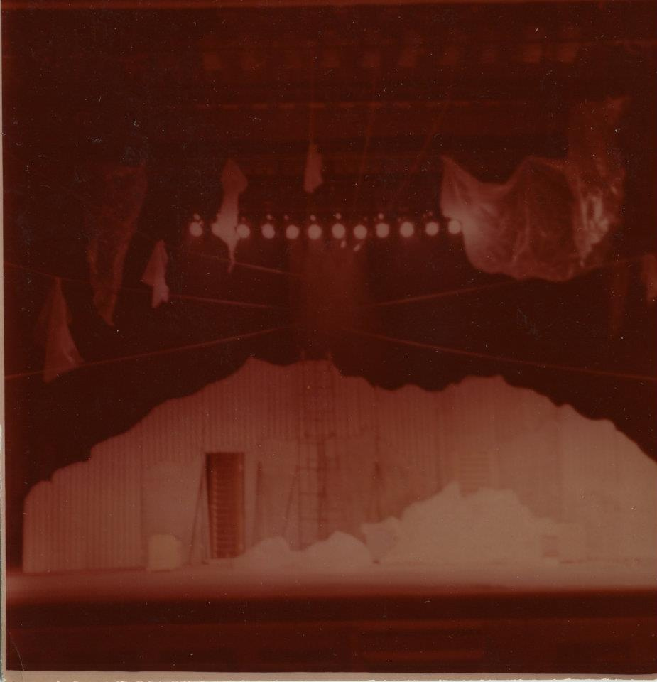 """Victor Veniaminovich Fesenko. Layout of the scenery for the play """"Sports Scenes of 198 ... year"""". Severodvinsk Drama Theater."""