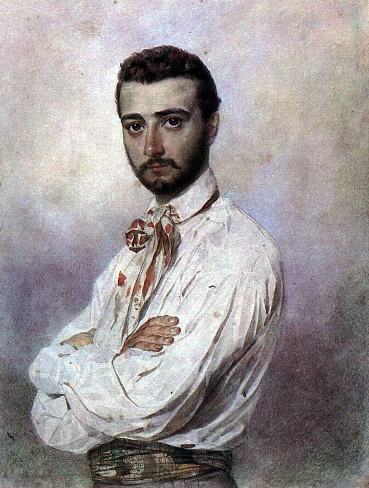 Карл Павлович Брюллов. Портрет Винченцо Титтони