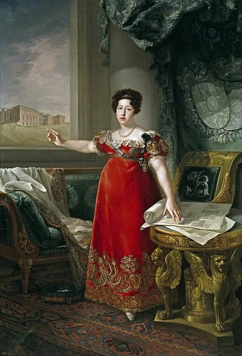 Бернардо Лопес. Портрет Марии Исабель де Браганса, королевы Испании, основательницы музея Прадо