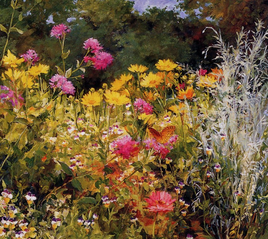 Cathy Anderson. Wildflowers and butterflies
