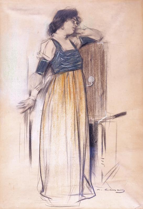 Рамон Касас Карбо. Портрет женщины