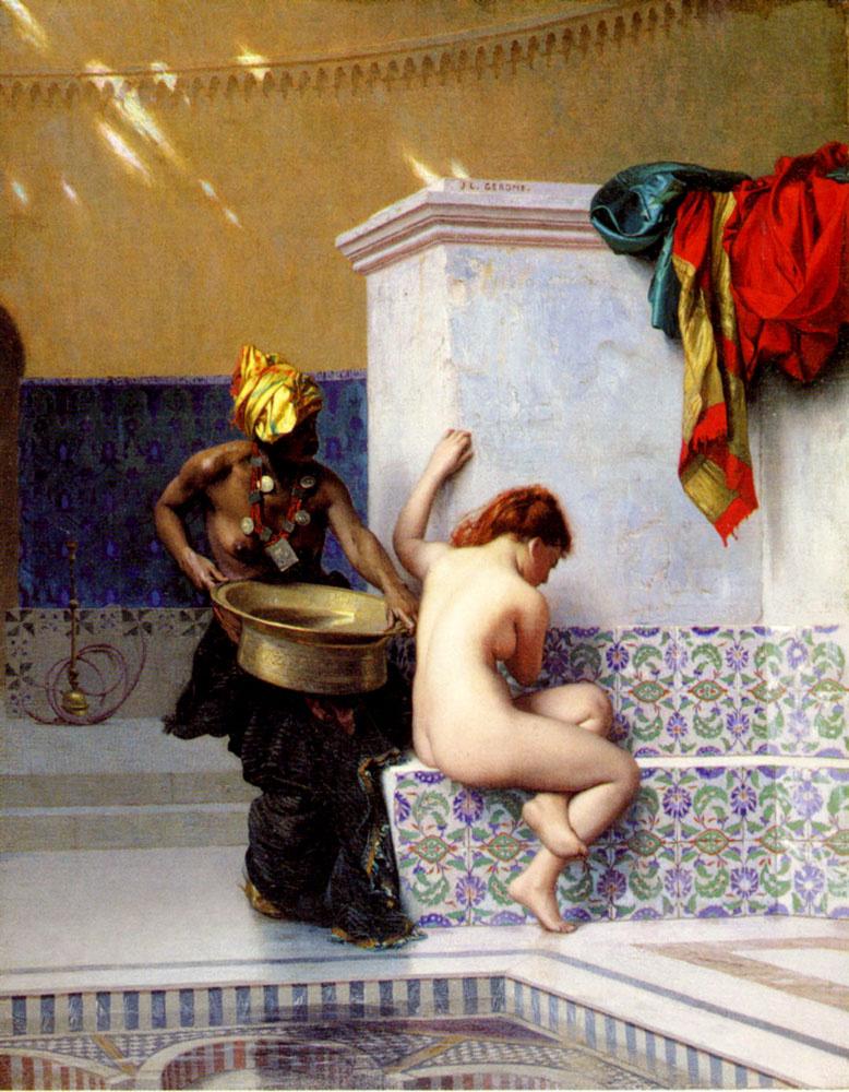 Jean-Leon Jerome. Turkish bath or Moorish bath