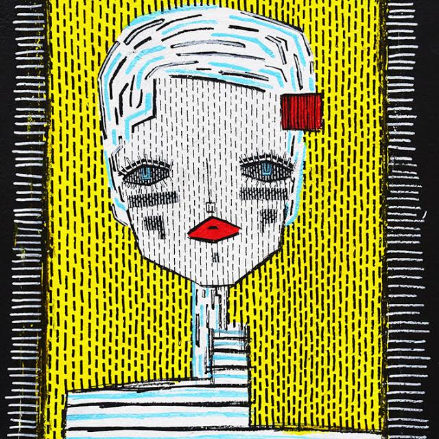 ALO (Aristide Loria). Traveler (Portrait on a yellow background)