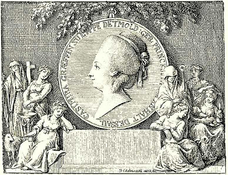 Даниэль  Николай Ходовецкий. Княгиня Казимира фон Липпе-Детмольд