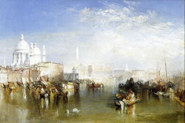 Joseph Mallord William Turner. View of Venice from the Giudecca canal, the Church of Santa Maria della Salute