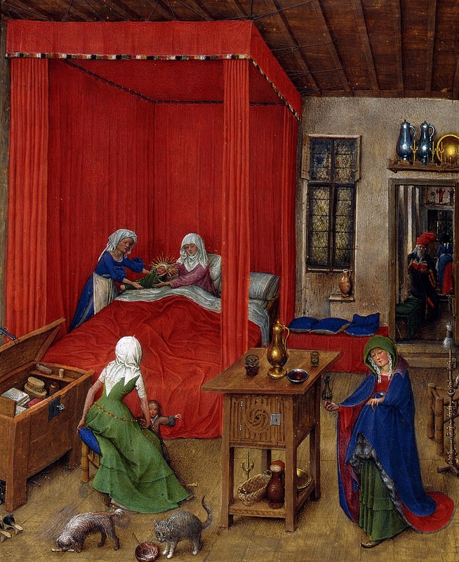 Jan van Eyck. The Birth Of John The Baptist