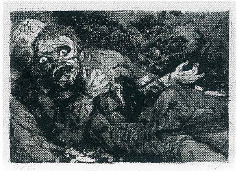 Отто Дикс. Раненый солдат