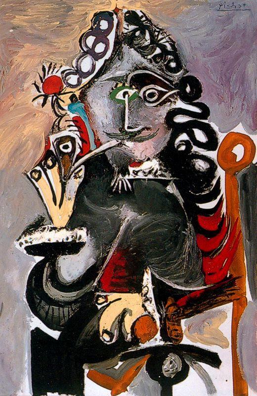 Пабло Пикассо. Мушкетер с трубкой