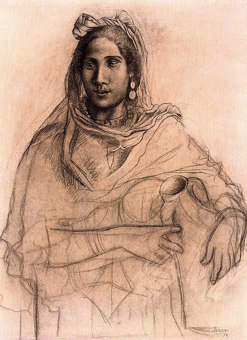Пабло Пикассо. Женщина, держащая вазу