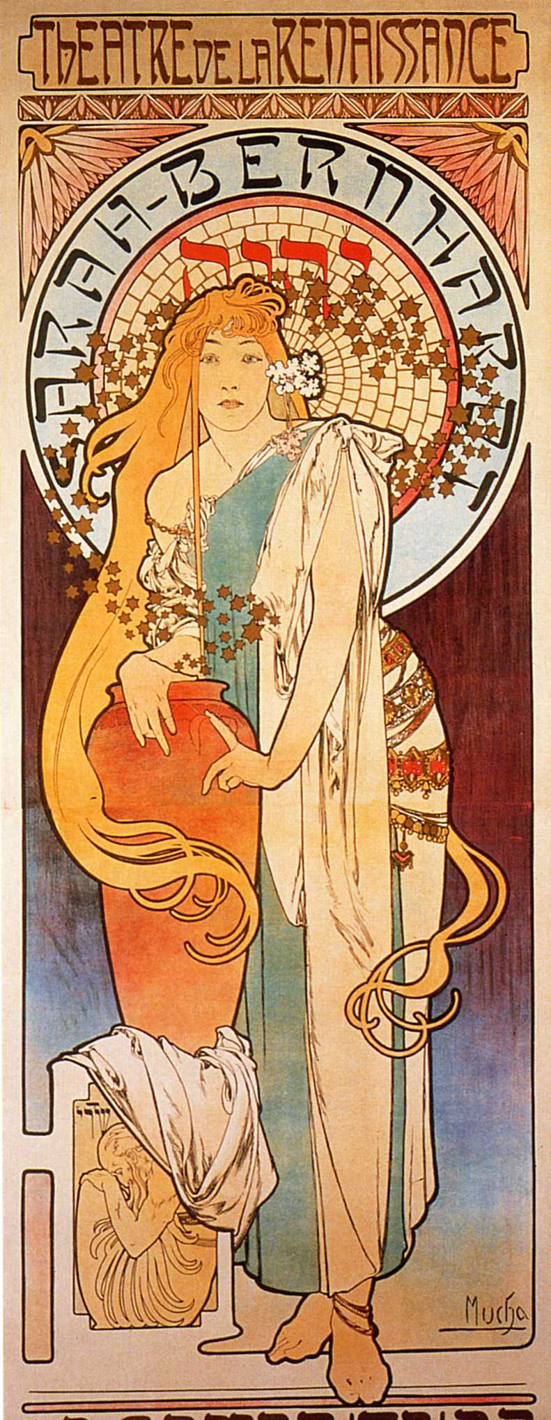 "Alfons Mucha. Poster for Sarah Bernhardt ""the Samaritan woman"""