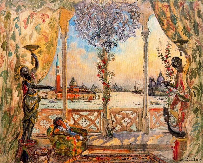 Андре Хамбоург. Отдых на балконе
