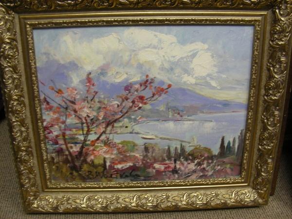 Valentina Tsvetkova. Almonds in bloom.Yalta