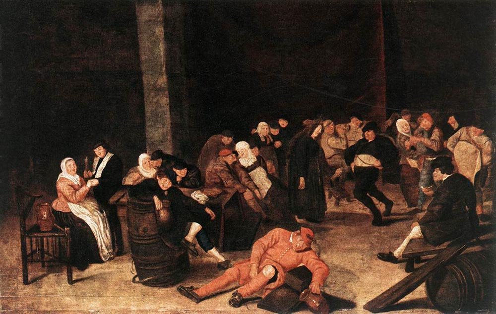 Франс Халс. Крестьяне на празднике