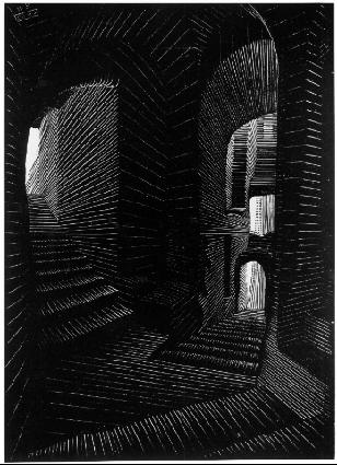 Мауриц Корнелис Эшер. Темная лестница