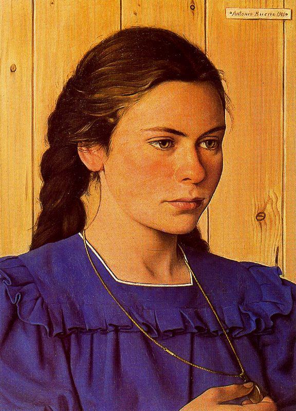 Антонио Буэно. Девушка в синем