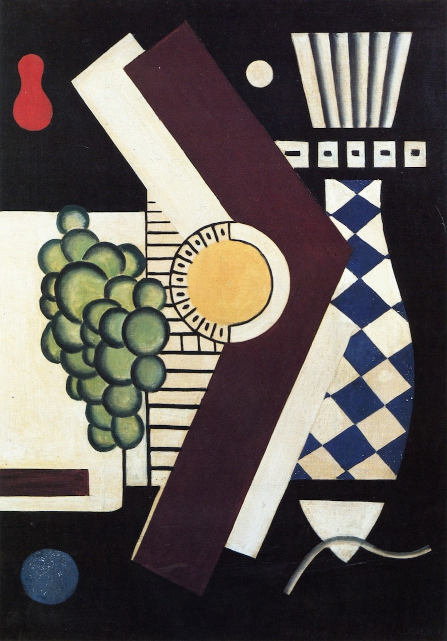 Juan Gris. Still life with grapes and fish