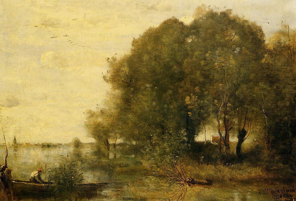 Камиль Коро. Лесистый полуостров
