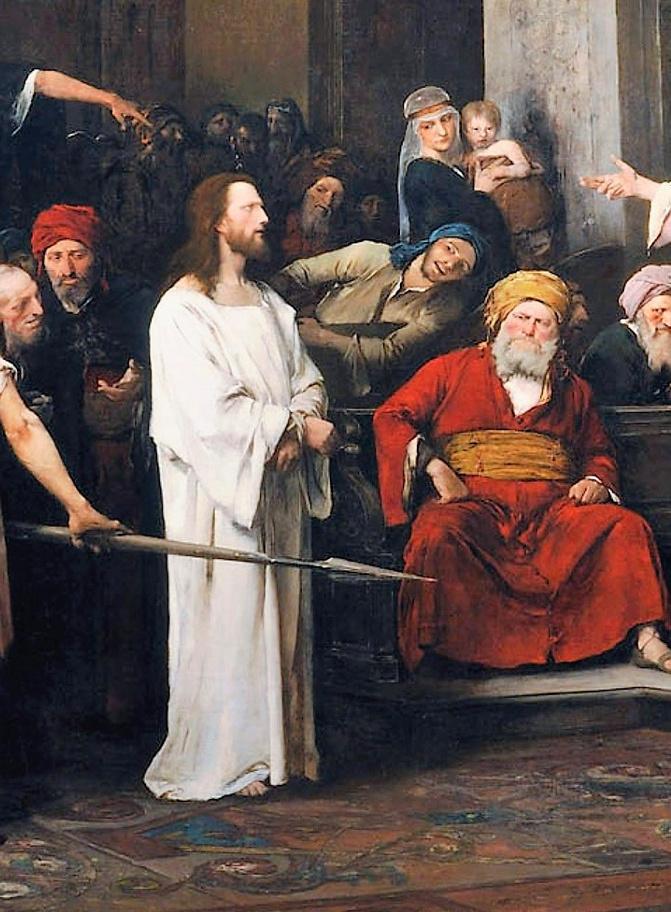 Михай Либ Мункачи. Христос перед Пилатом. Фрагмент