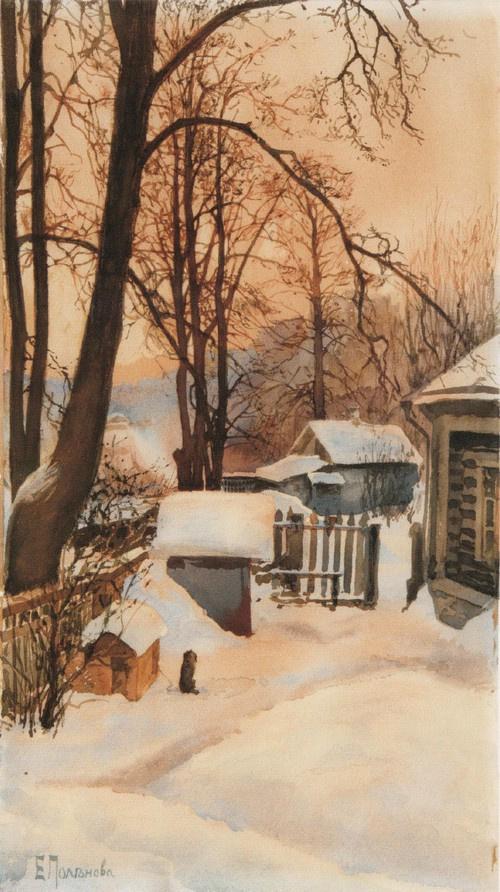 Elena Dmitrievna Polenova. Outside in the winter