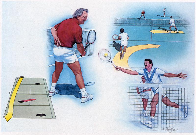 Майк Брент. Игра в теннис