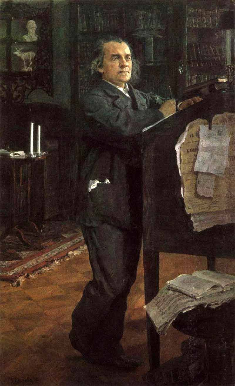 Valentin Aleksandrovich Serov. Portrait of the composer A. N. Serov