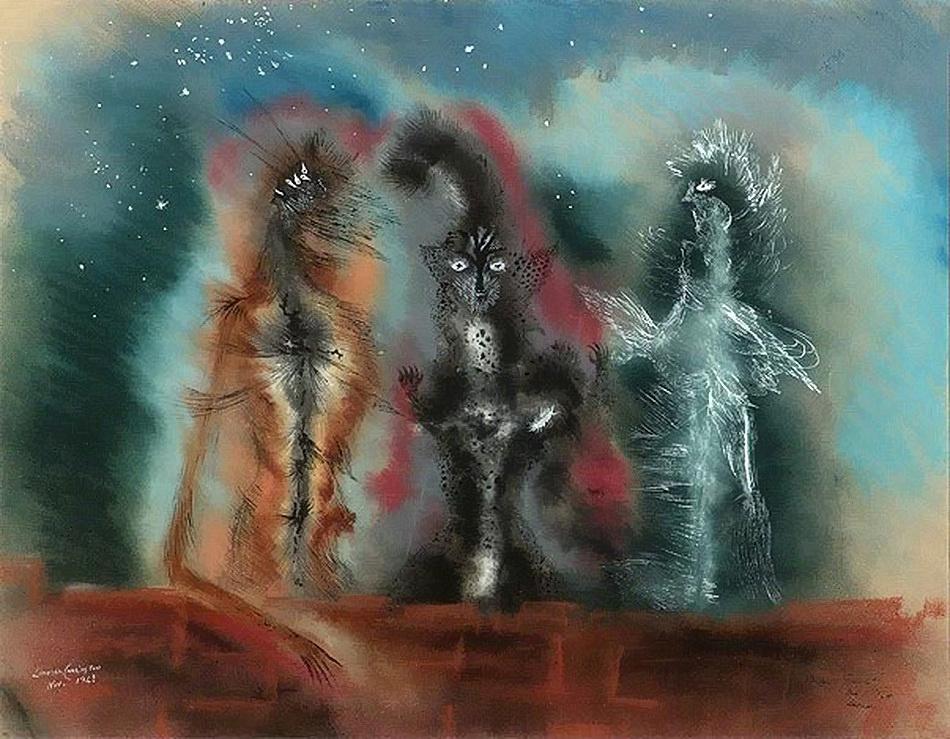Леонора Каррингтон. Три кота