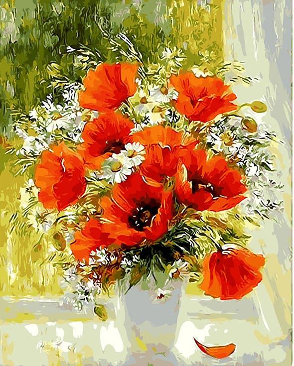 Tais. Poppies and daisies