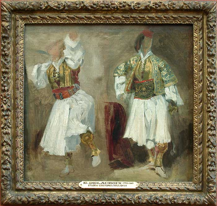 Sketch of dancing figures in the costumes of Slyotov