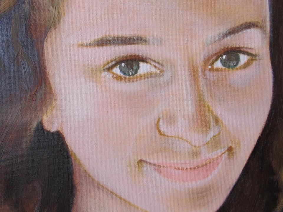 Shop Artists. Fragment of a portrait