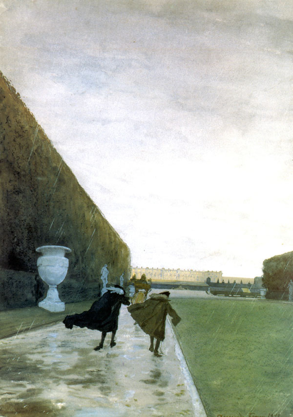 Alexandre Benois. The king walks in any weather